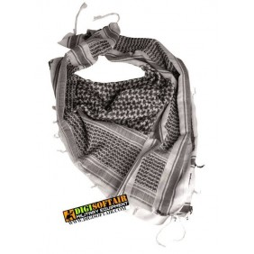 WHITE/BLACK SHEMAGH SCARF