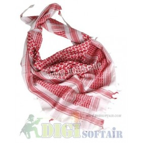 WHITE/RED SHEMAGH SCARF Miltec