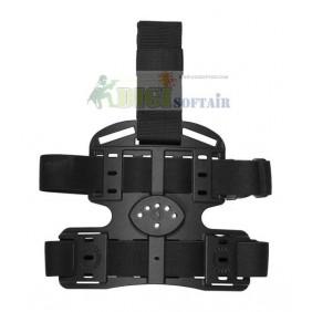 Vega holster Piattaforma cosciale nera multi uso in polimero stampato a iniezione ITK INFINITY THIGH 8K16