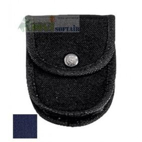 Vega holster Porta manette blu  in cordura con passante in nastro