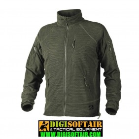 Helikon - alpha jacket - grid fleece olive green