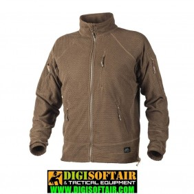 Helikon alpha jacket grid fleece coyote brown