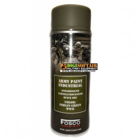Fosco Indian Green WWII Army Paint Spray Quick dry 400 ml