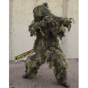 GHILLIE SUIT ′ANTI FIRE′ 4PC. WOODLAND