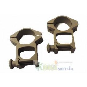 HIGH RINGS tan 25mm for WEAVER M2006T slide