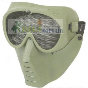 Sansei Verde maschera a rete per softair KR014V