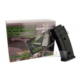King Arms Box 5 PCS magazine 95bb G36 series