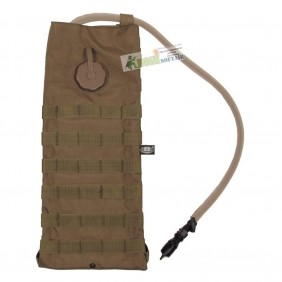 """Hydration Pack, """"Molle"""", w/ drinking cup 2,5 l, coyote tan 30620R"""