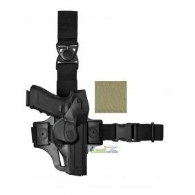 DCHT8 VEGA HOLSTER Duty CAMA Holster thigh kit verde per GLOCK 17
