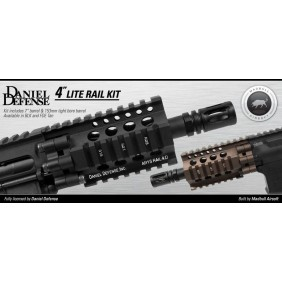 FRONTALE DANIEL DEFENSE 4LITE RAIL KIT BLACK by madbull