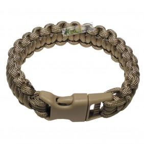 """Bracelet, """"Paracord"""", coyote tan, width 2,3 cm"""