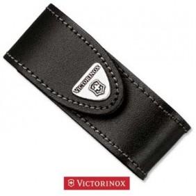 VICTORINOX FODERO IN PELLE Fodero in pelle nera con chiusura in velcro per coltello multiuso da 91 mm da 2/4 strati.