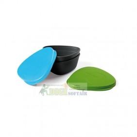 SNAPBOX ORIGINAL 2 contenitori con coperchio verde e azzurro
