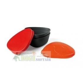SNAPBOX ORIGINAL 2 contenitori con coperchio arancio e rosso