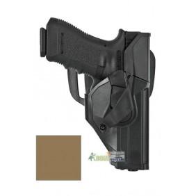 DCHO8 Duty CAMA open Vega holster fondina DESERT per Glock 17