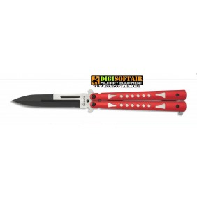 Albainox butterfly 10,1cm red handle 36236