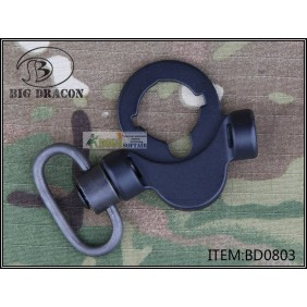 Troy OEM M4 battle sling mount Nero per ASG a GAS