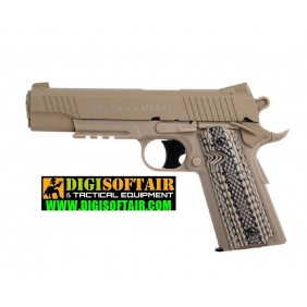 COLT Rail Gun Tan fixed metal slide 6mm 15BB's