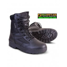 Patrol Boot - Half Leather/Half Nylon - Black