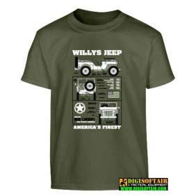 Kids Willys Jeep T-shirt -...