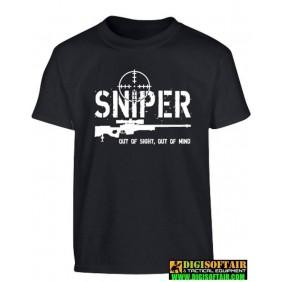 T-shirt da bambino Sniper - Nera