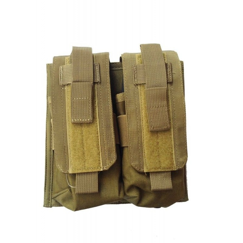 Defcon 5 DOUBLE MOLLE MAG POUCH coyote tan
