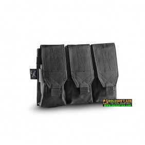 CYGNI TRIPLE MAGAZINE M4-AK POUCH WITH VELCRO OPENING 600D POLY black Openland