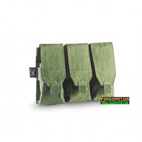 CYGNI TRIPLE MAGAZINE M4-AK POUCH WITH VELCRO OPENING 600D POLY OD green Openland