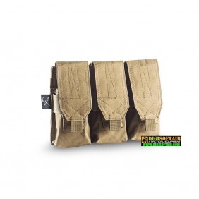 CYGNI TRIPLE MAGAZINE M4-AK POUCH WITH VELCRO OPENING 600D POLY OD coyote tan Openland