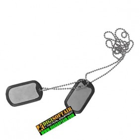 Dog Tag - Stainless Steel - Steel