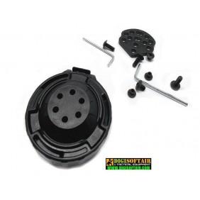 Vega holster 8K33 swivel QD adapter for polymer holster Black