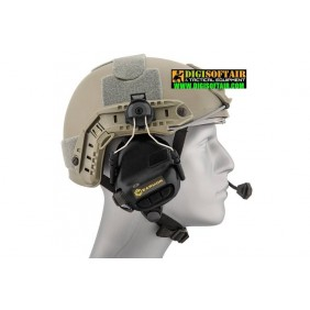 Earmor M32H Tactical Communication Cuffie protettive per caschi FAST MT black