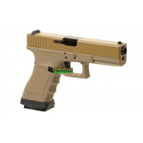 WE modello glock G17 Custom G FORCE series desert PISTOLA SOFTAIR A GAS
