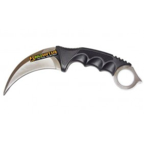 KARAMBIT SILVER with ABS Folding Ram survival
