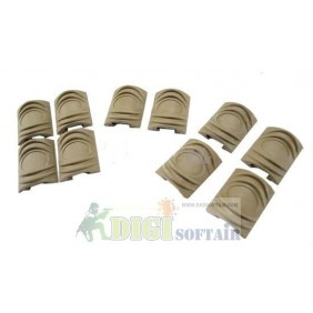 Element copri rail TDI Tan 10pcs