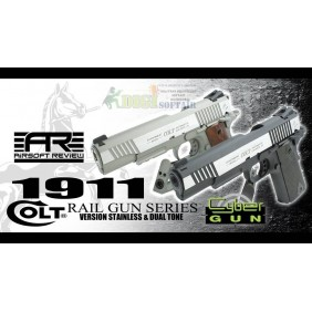 Colt 1911 Rail Gun co2 Dual tone cybergun