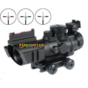 DRAGONFLY - GOLIATH HYBRID OPTICS - 3 RETICLES - OPTICAL FIBER