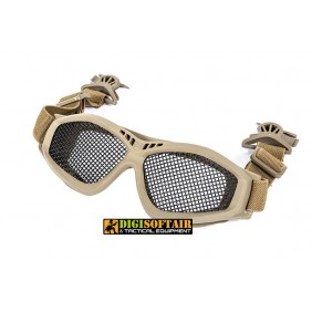 Black River Steel Mesh Goggles with Fast Helmet Clip Tan
