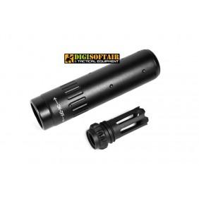 Evolution QD Short Silencer + Flash Hider 14mm ccw