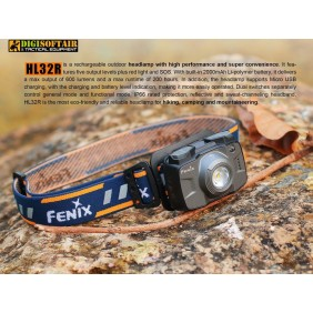 FENIX HL32R GREY 600 lumen HEADLAMP