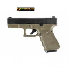 Evolution Glock 23 OD G23 gas blowback plastic slide