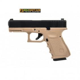 Evolution Glock 23 tan G23 gas blowback plastic slide