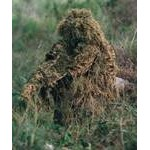 Ghillie suit, tapes, and camouflage nets