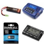 Batterie, carica batterie, accessori per softair